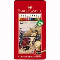 CREIOANE COLORATE 24 CULORI CUTIE METAL FABER-CASTELL