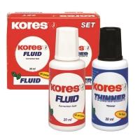 Fluid Corector+Solvent Set 2 x 20 ml Kores