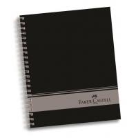 CAIET BIROU CU SPIRA 120F 4 SUBIECTE COPERTA NEAGRA FABER-CASTELL
