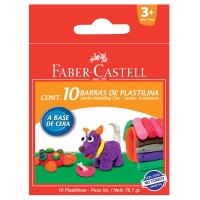 PLASTILINA 10 CULORI 90G FABER-CASTELL