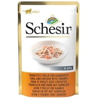 Schesir Cat Ton & Pui & Creveti in Jelly, 85 g