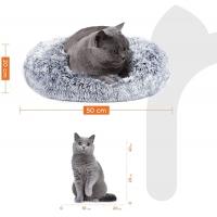 FEANDREA, pat câini și pisici, S, gogoașă, gri, 50 x 20 cm