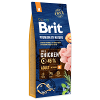 Brit Premium by Nature Adult M, 15 kg