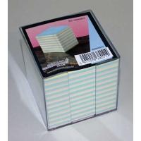 Cub hartie color 9x9x9cm, cu suport plastic BUR-O-CLASS AURORA