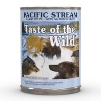 TASTE OF THE WILD Pacific Stream, Somon, pachet economic conservă hrană umedă fără cereale câini, (în sos), 390g x 6