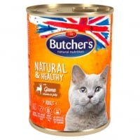 Butcher's Cat Natural & Healthy cu Vanat, 400 g