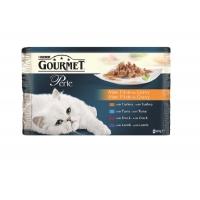 Gourmet Perle Curcan, Ton, Rata si Miel 4 x 85 g