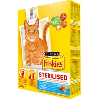 Friskies Adult Sterilised Somon si Legume, 300 g