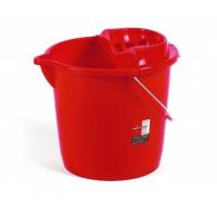 Galeata rotunda OTI cu storcator, rosu, 10 litri