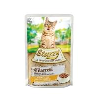 Stuzzy, Pui cu Șuncă, plic hrană umedă pisici, (fâșii în sos), 85g