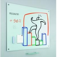 Tabla alba magnetica din sticla 100 x 150 cm - SMIT