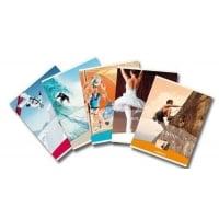 Caiet A5, 48 file - 80g/mp, liniat stanga, coperta imagini sport, AURORA Splendid - dictando