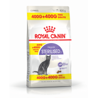 Royal Canin Sterilised, 400 g + 400 g Gratis