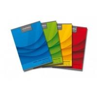 Caiet A5, 60 file - 70g/mp, liniat stanga, coperta carton color, AURORA Office - matematica