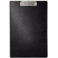 Clipboard simplu, plastifiat PVC, AURORA - negru