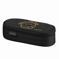 Necessaire oval dimensiune 21,5x9x6cm, motiv Smiley Golden Pop Herlitz
