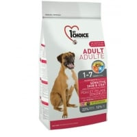 1st Choice Dog Adult, All Breeds, Sensitive Skin and Coat, 2.72 kg