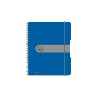 Caiet A6 100 file cu spirala matematica coperta pp microperforatii albastru opac