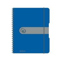 Caiet A5 80 file cu spirala matematica, coperta pp cu elastic 4 perforatii albastru opac