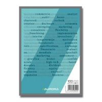 Blocnotes A5, 100 file, AURORA Bureau - Velina