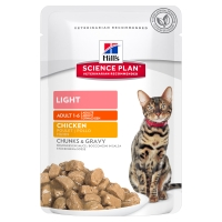 Hill's SP Feline Adult Light cu Pui, Plic, 85 g