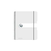 Caiet A6 100 file cu spirala matematica coperta pp microperforatii transparent