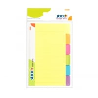Divider notes autoadeziv cu 6 separatoare, 148 x 98 mm, 60 file, Stick