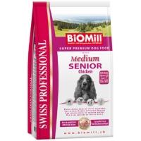 Biomill Swiss Professional Medium Senior cu Pui, 12 kg