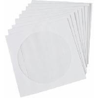 Plic CD alb autoadeziv (124x124mm) cu fereastra, 25buc/set