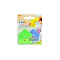 Stick index plastic 38 x 38 mm, 20/set, index sageata, tab hartie color, Stick