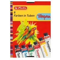 Acuarele tempera 16ml/culoare set 6 culori Herlitz