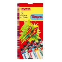 Acuarele tempera 16ml/culoare set 10 culori Herlitz
