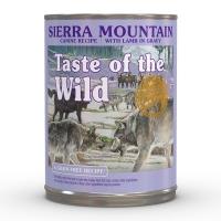 TASTE OF THE WILD Sierra Mountain, Miel, pachet economic conservă hrană umedă fără cereale câini, (în sos), 390g x 12
