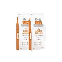 Pachet 2 x Brit Care Adult Medium Breed Miel si Orez 12 kg
