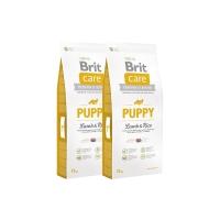 Pachet 2 x Brit Care Puppy All Breed Miel si Orez 12 kg