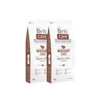 Pachet 2 x Brit Care Weight Loss cu Iepure si Orez, 12 kg