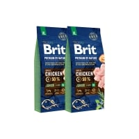 Pachet 2 x Brit Premium by Nature Junior XL, 15 kg
