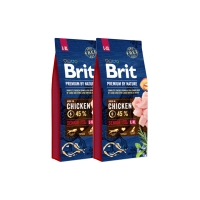 Pachet 2 x Brit Premium by Nature Senior L-XL, 15 kg