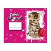 Caiet 24 file desen motiv Pretty Pets