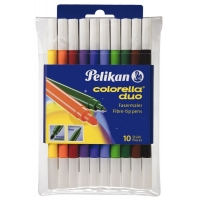 Carioca Colorella duo C407, set 10 culori, blister, Pelikan