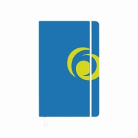 Bloc notes A5 88 file matematica coperta carton cu elastic albastru Intens