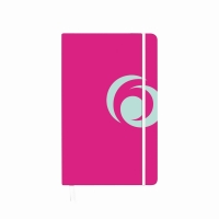Bloc notes A5 88 file matematica coperta carton cu elastic roz electrizant