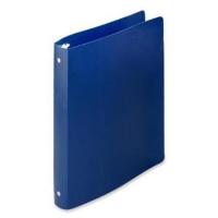 Caiet mecanic 2 inele - D16mm, coperti flexibile PP, AURORA - albastru