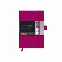 Bloc Notes A6 96 file matematica coperta din piele sintetica cu elastic, motiv My Book Classic mov