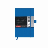 Bloc Notes A6 96 file matematica coperta din piele sintetica cu elastic, motiv My Book Classic albastru