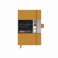 Bloc Notes A6 96 file dictando coperta din piele sintetica cu elastic, motiv My Book Classic auriu