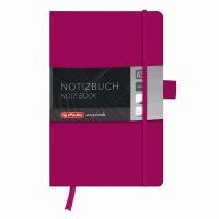 Bloc Notes A5 96 file veline coperta din piele sintetica cu elastic, motiv My Book Classic mov