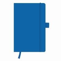 Bloc Notes A5 96 file veline coperta din piele sintetica cu elastic, motiv My Book Classic albastru