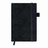 Bloc Notes A5 96 file dictando coperta din piele sintetica cu elastic, motiv My Book Classic negru