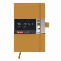 Bloc Notes A5 96 file dictando coperta din piele sintetica cu elastic, motiv My Book Classic auriu